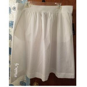 NWT Apt 9 Full Skirt - white XXL